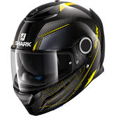 Shark Spartan Carbon Silicium Motorcycle Helmet XL Carbon Yellow Anthracite