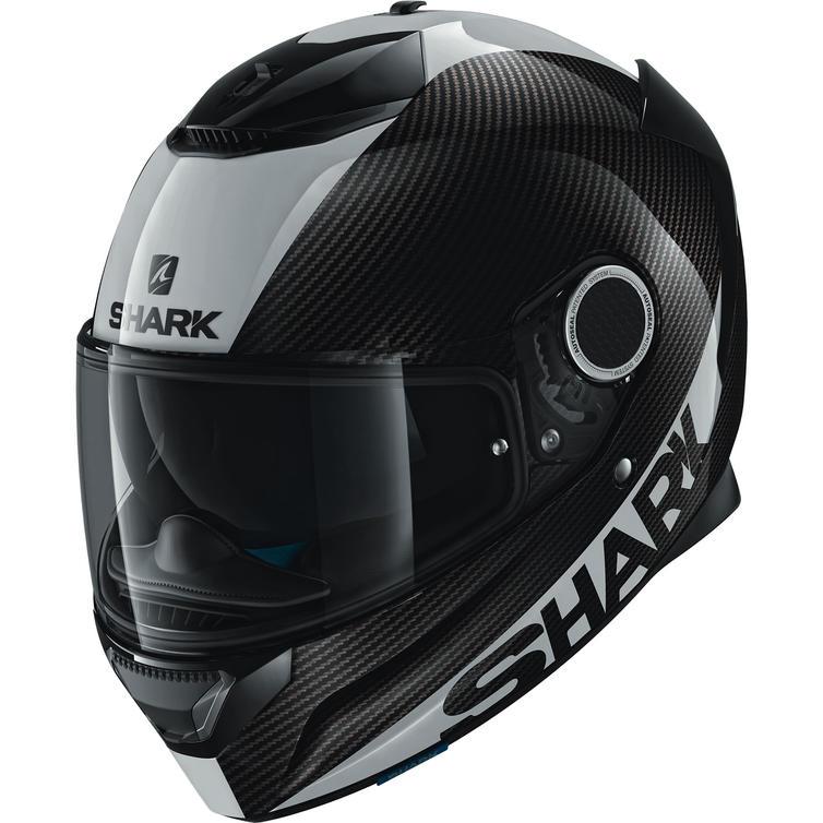Shark Spartan Carbon Skin Mat Motorcycle Helmet XL White