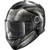 Shark Spartan Hoplite Motorcycle Helmet L Black Chrome Black
