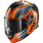 Shark Spartan Karken Motorcycle Helmet XS Orange Black