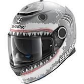 Shark Spartan Lorenzo White Shark Motorcycle Helmet M Silver White Anthracite