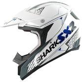 Shark SX2 Kamaboko Motocross Helmet M White Blue