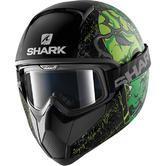 Shark Vancore Ashtan Mat Motorcycle Helmet XS Matt Black Green