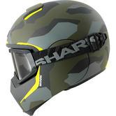 Shark Vancore Wipeout Mat Motorcycle Helmet XS Matt Green Yellow