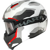 Shark Vancore Wipeout Motorcycle Helmet XS White Anthracite Red
