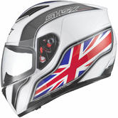 Shox Axxis Identity Motorcycle Helmet M White