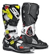 Sidi Crossfire 2 Motocross Boots 40 White Black Yellow Fluo (UK 6.5)