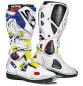 Sidi Crossfire 2 Motocross Boots 48 Yellow Fluo White Blue (UK 12.5)