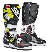 Sidi Crossfire 2 SRS Motocross Boots 40 White Black Yellow Fluo (UK 6.5)