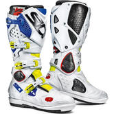 Sidi Crossfire 2 SRS Motocross Boots 46 Yellow Fluo White Blue
