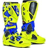 Sidi Crossfire 3 SRS Cairoli Limited Edition Motocross Boots 41 Blue Yell Flo