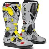 Sidi Crossfire 3 SRS Motorcross Boots 44 Black Ash Yellow Fluo