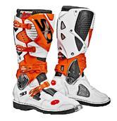 Sidi Crossfire 3 Motocross Boots 45 White Orange (UK 10.5)