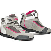 Sidi Gas Leather Ladies Motorcycle Boots 37 Grey Pink