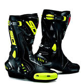 Sidi ST Motorcycle Boots 37 Black Yellow Fluo (UK 4)