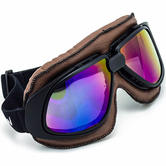 SOXON SG-300 Aviator Goggles One Size Brown Rainbow