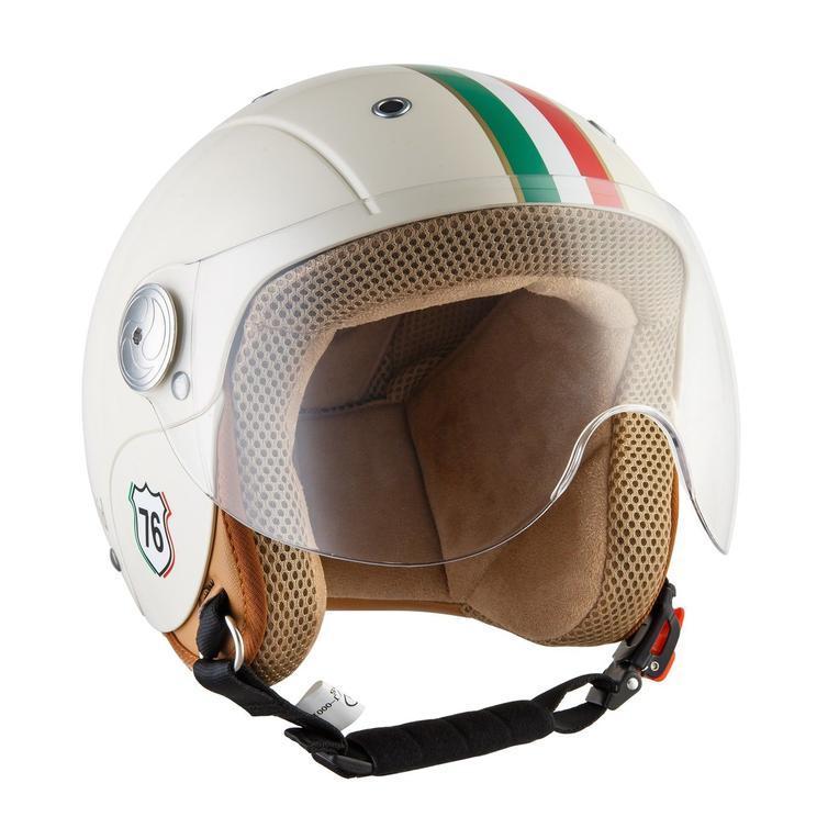 SOXON SK-55 Kids Imola Open Face Motorcycle Helmet S Beige