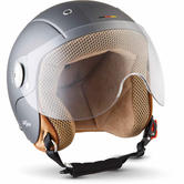 SOXON SK-55 Kids Plus Titan Open-Face Motorcycle Helmet XXS Grey