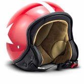 SOXON SP-301-STAR Open-Face Motorcycle Helmet XS Red