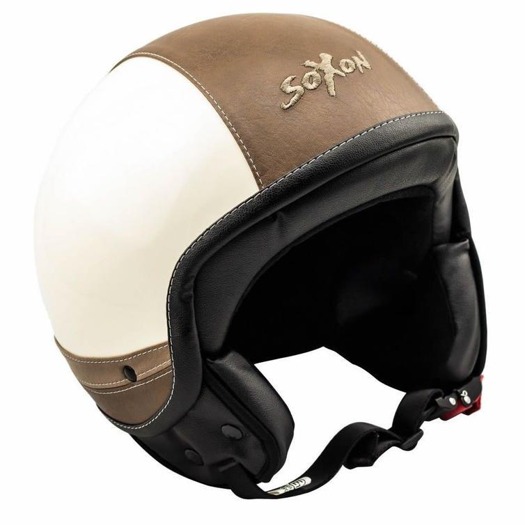 SOXON SP-301-URBAN Open Face Motorcycle Helmet L Cream