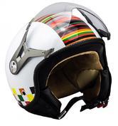 SOXON SP-325 Couleur Open Face Motorcycle Helmet XL White
