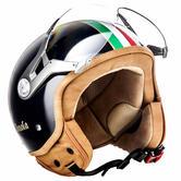 SOXON SP-325 Imola Black Open-Face Motorcycle Helmet XS Black