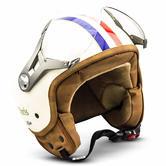 SOXON SP-325 Paris Open Face Motorcycle Helmet XL Beige