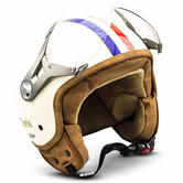 SOXON SP-325 Paris Open-Face Motorcycle Helmet XS Beige