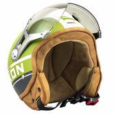 SOXON SP-325-PLUS Army Open Face Motorcycle Helmet XL Green