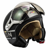SOXON SP-325-PLUS Open Face Motorcycle Helmet XS Black