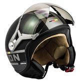 SOXON SP-325-PLUS Open Face Motorcycle Helmet S Black