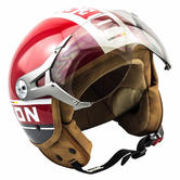SOXON SP-325-PLUS Open Face Motorcycle Helmet XS Red