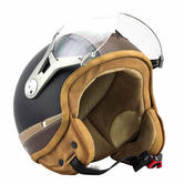 SOXON SP-325-URBAN Vintage Open Face Motorcycle Helmet XS Black