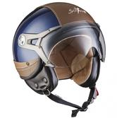SOXON SP-325-URBAN Vintage Open Face Motorcycle Helmet XS Blue