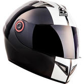 SOXON ST-666 Deluxe Snow Full Face Motorcycle Helmet XS Black