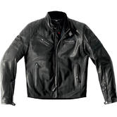 Spidi Ace Leather Motorcycle Jacket 56 Black