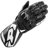 Spidi Carbo 1 Leather Motorcycle Gloves M Black