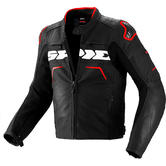 Spidi Evorider Leather Motorcycle Jacket 56 Black Red