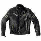 Spidi Ace Leather Motorcycle Jacket 48 Black Ice (UK 38)
