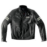 Spidi Ace Leather Motorcycle Jacket 50 Black Ice