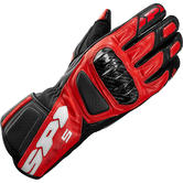 Spidi STR-5 Leather Motorcycle Gloves XL Red Black