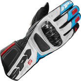 Spidi STR-5 Leather Motorcycle Gloves XXL White Blue Red