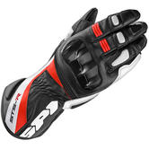 Spidi STS-R Ladies Leather Motorcycle Gloves XL Black Red