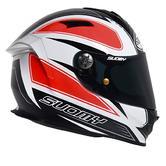 Suomy SR Sport Shape Full Face Motorcycle Helmet L Orange White Black