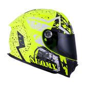 Suomy SR Sport Full Face Motorcycle Helmet XS Stars Yellow Fluo