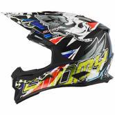 Suomy Alpha Motocross Helmet L Red Black White Blue
