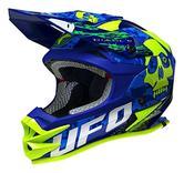 UFO Onyx Diablo Motocross Helmet XS Blue Yellow