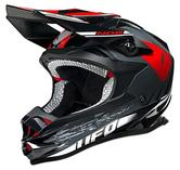 UFO NOS Stone Our Motocross Helmet XS Black Red