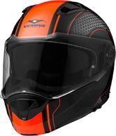 Vemar Sharki Hive Flip Front Motorcycle Helmet S Matt Fluo Orange