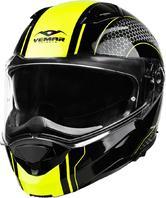 Vemar Sharki Hive Flip Front Motorcycle Helmet S Matt Fluo Yellow
